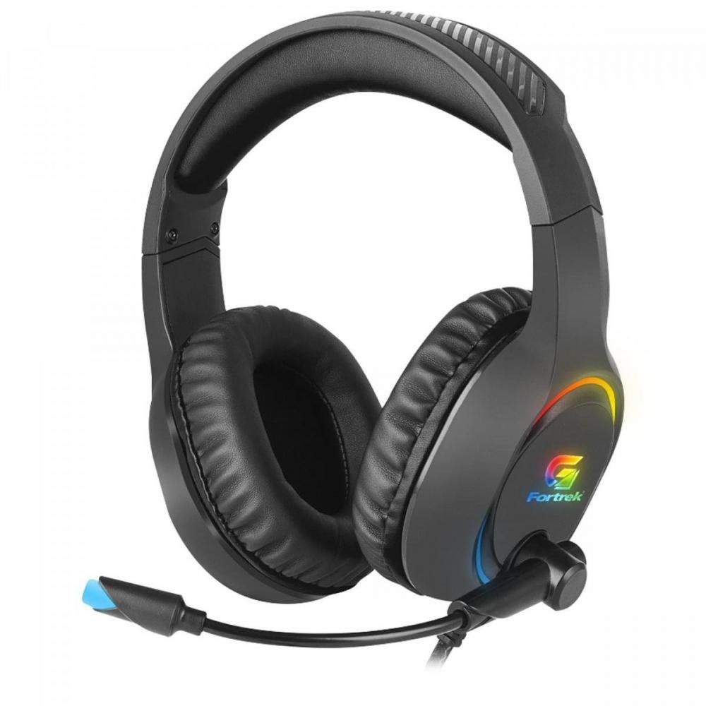 Headset Gamer Led RGB Holt Preto Fortrek Compatível C/ Ps4  Xbox One Celular Notebook