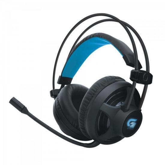 Headset Gamer Pro H2 P2 Usb Led Azul Fone De Ouvido Fortrek