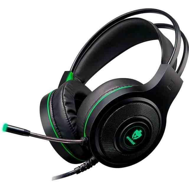 Headset Gamer Têmis Evolut Preto/Verde EG-301 GR