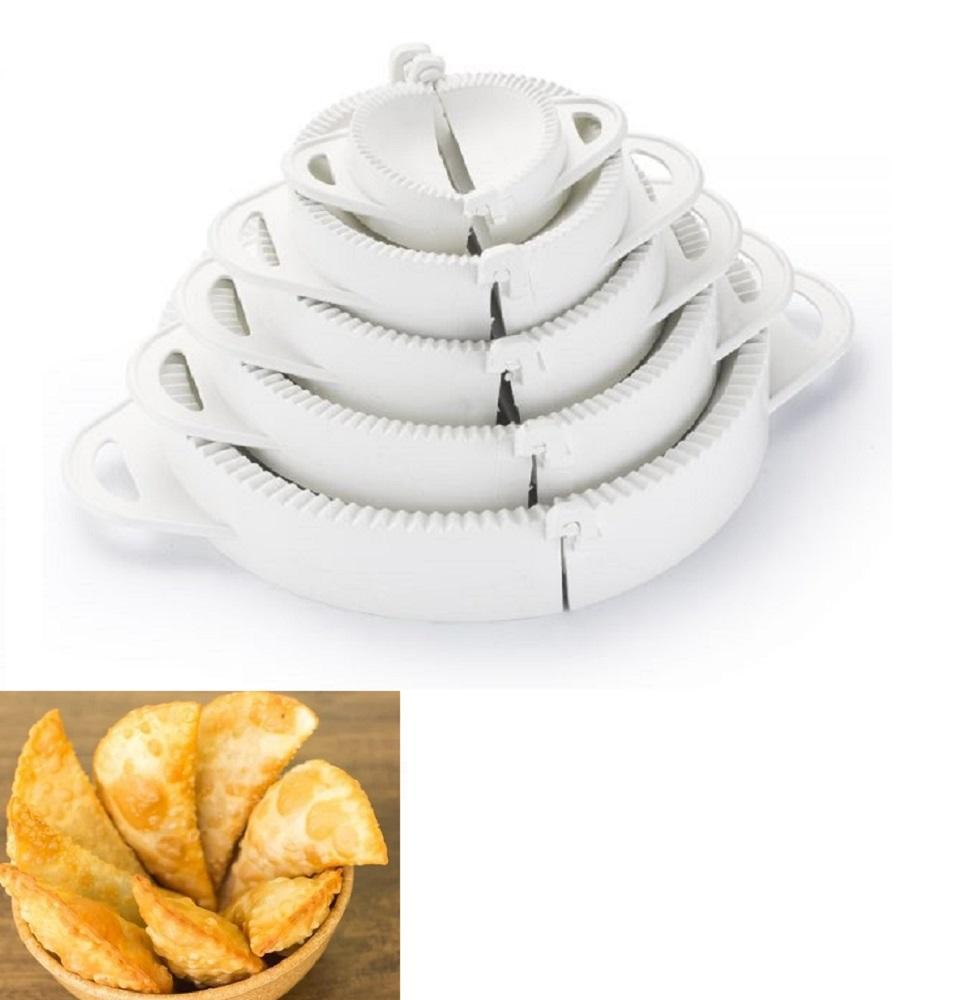 Kit 5 Forma Molde Para Pastel Fogaça Salgados Risoles Ravióli Keita