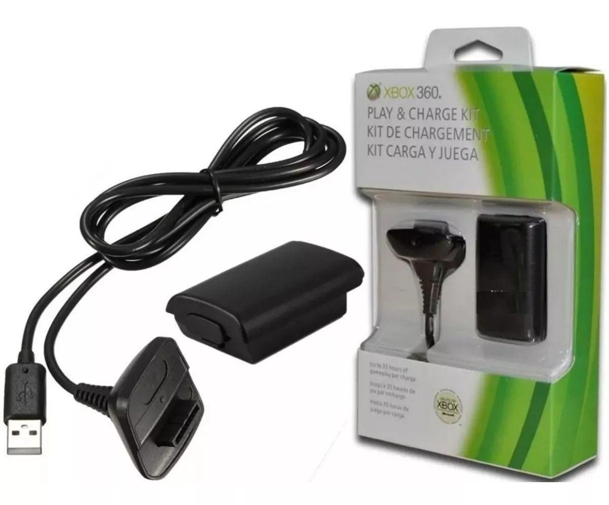 Kit Carregador E Bateria Para Controle Xbox 360