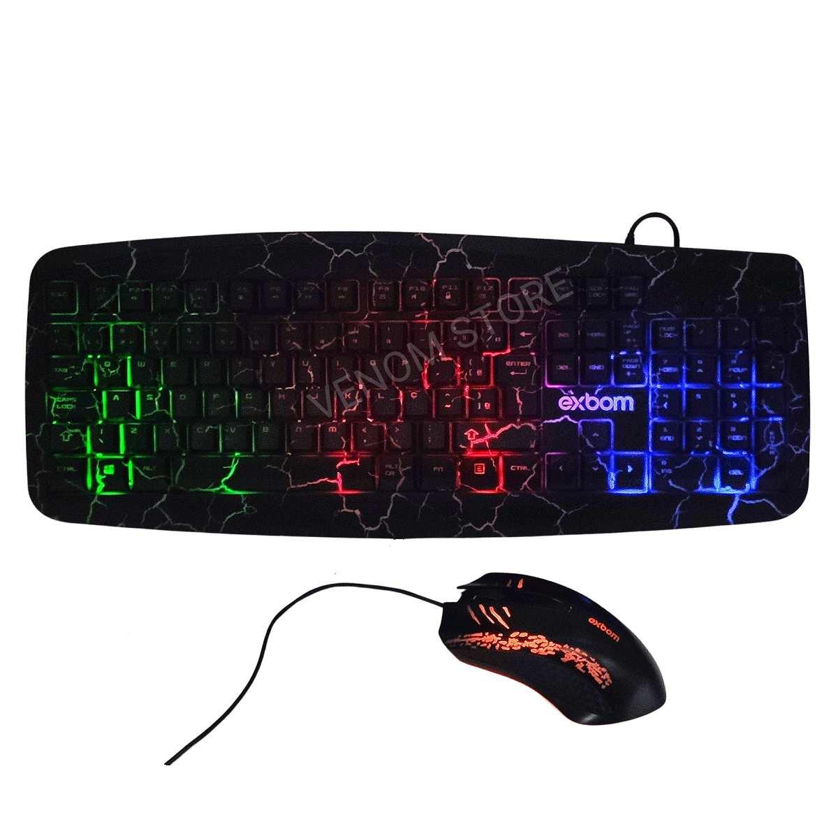 Teclado e Mouse Gamer Exbom BK-G600
