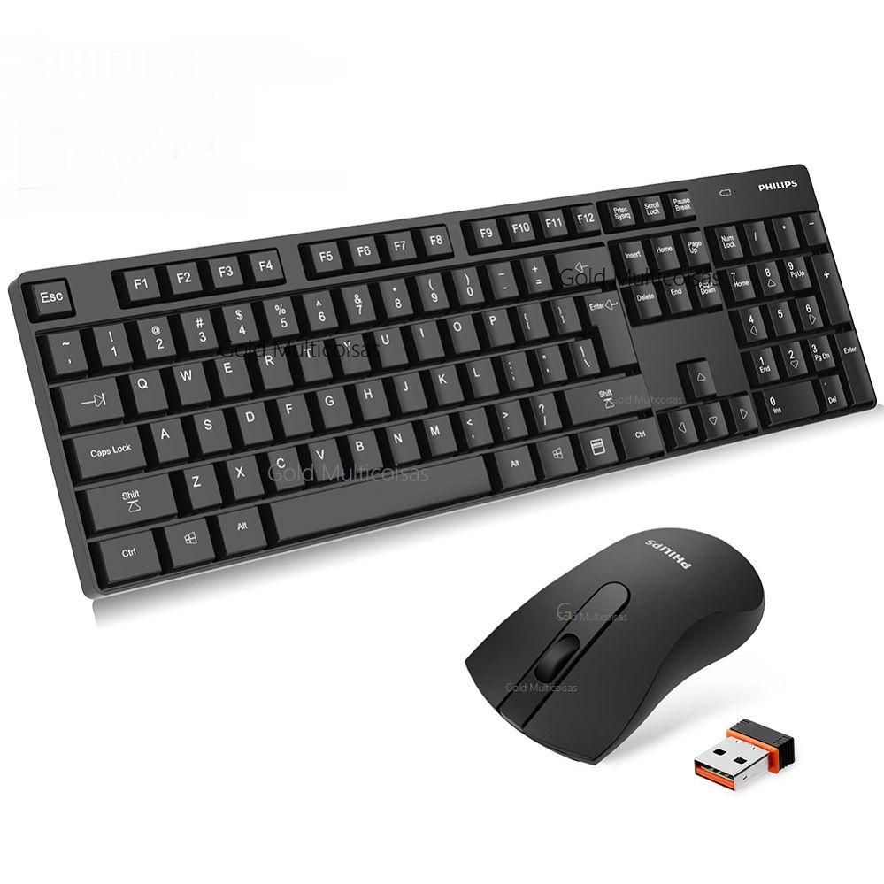 Kit Teclado E Mouse Wireless Sem Fio Philips C501