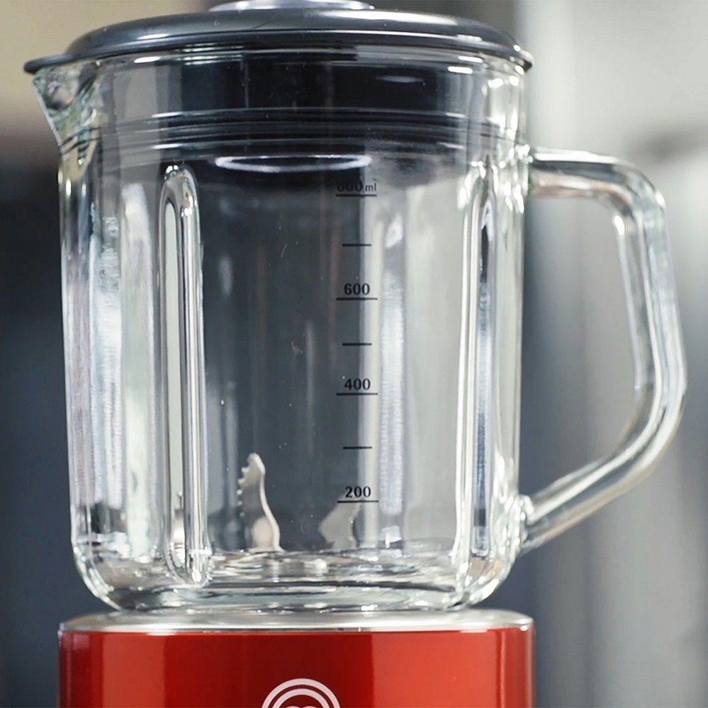 Liquidificador Compacto MasterChef  127v Vermelho ML1001V, 5 Velocidades  Jarra De Vidro 800ml e 500W