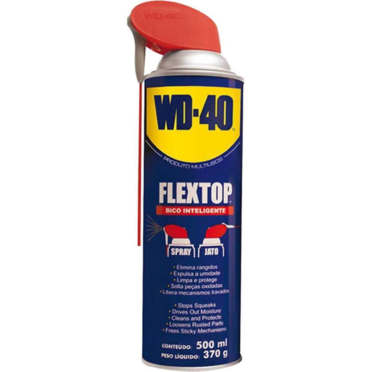 Lubrificante e Desengripante Aerosol 500ml FLEX TOP Spray WD40