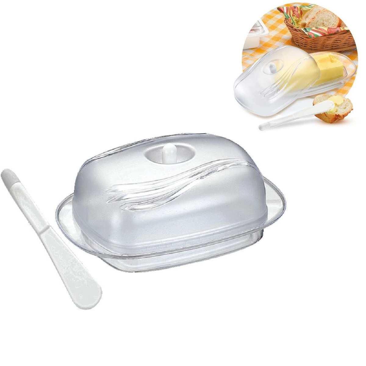 Manteigueira Com Espátula Acrílico Keita