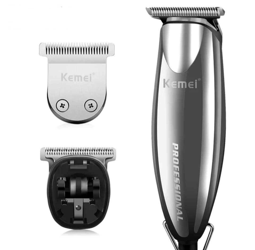 Maquina Acabamento De Cabelo Barba Profissional 3 Em 1 Kemei Km-701 Bivolt