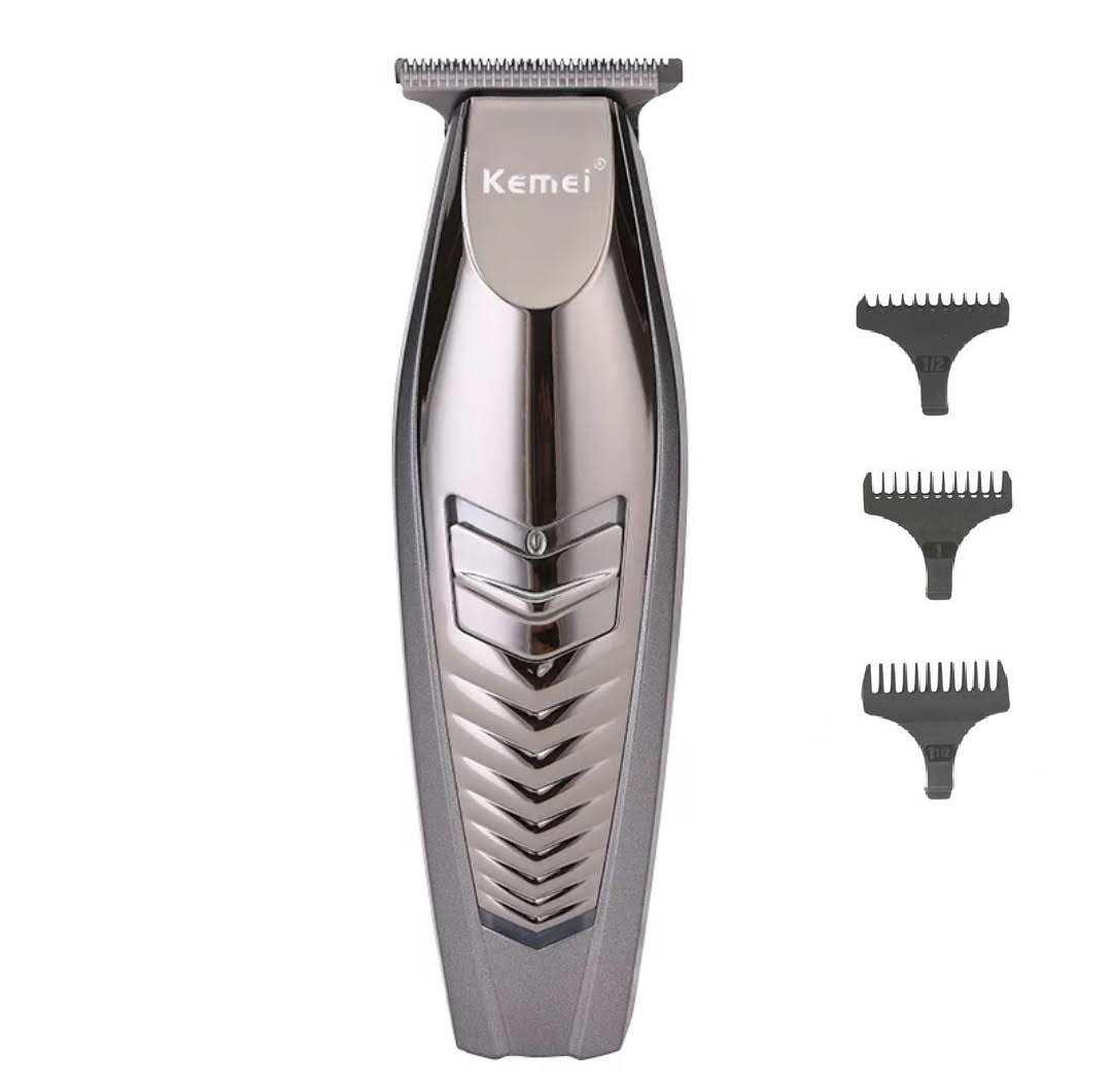 Maquina Acabamento De Cabelo Barba Profissional S/Fio 8w Kemei Km-2712