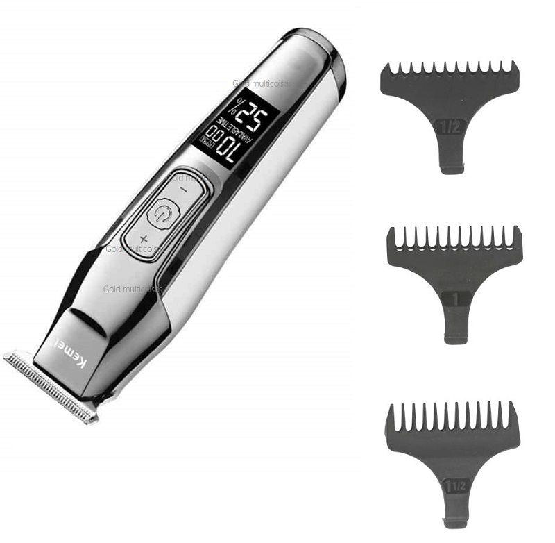 Maquina Acabamento De Cabelo Barba Profissional S/Fio Kemei Km-5027