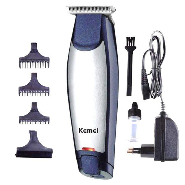 Maquina Acabamento De Cabelo Barba Recarregável Kemei 5021 Bivolt