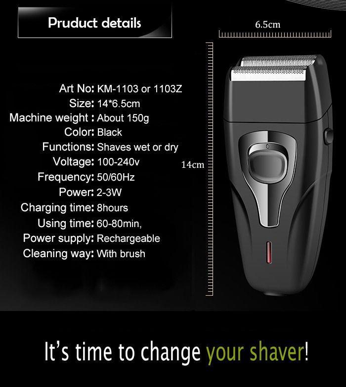 Maquina De Barbear 2 em 1 Barba E Pezinho Sem Fio Recarregável Bivolt Kemei KM-1103