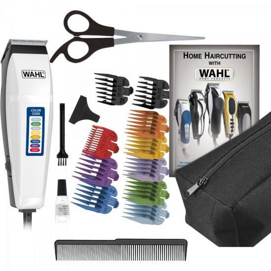 Maquina de Corte 220V Color Code Kit 17 Peças Branca WAHL