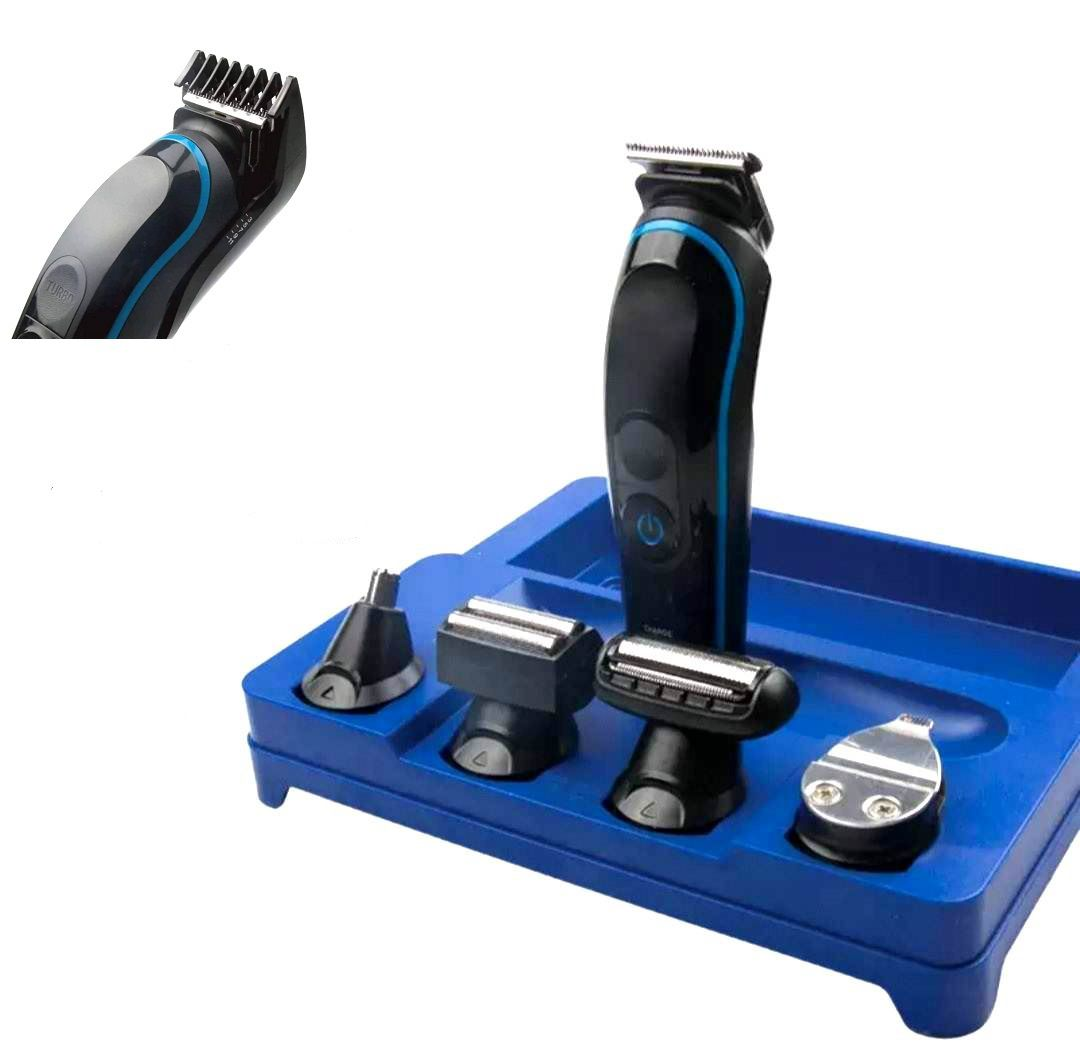Maquina de Corte Cabelo Barba Facial E Corporal 5 em 1 Bivolt Kemei Km-690