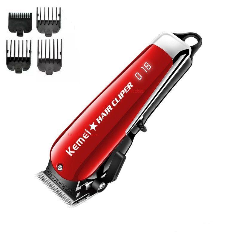 Maquina De Corte Cabelo Barba Profissional Clipper S/Fio 5W  Kemei Km-2611 Bivolt