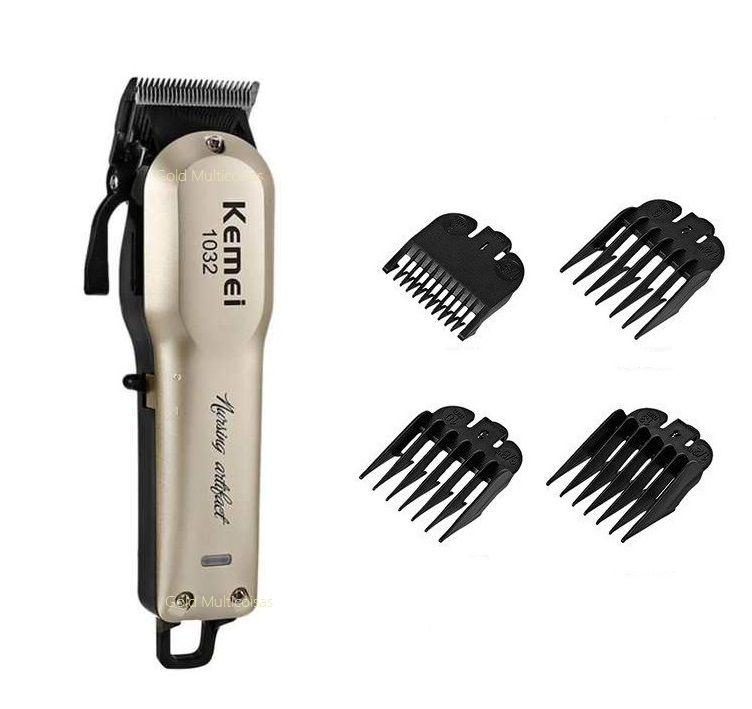Maquina De Corte Cabelo Barba Profissional Clipper S/Fio 8W  Kemei Km-1032 Bivolt
