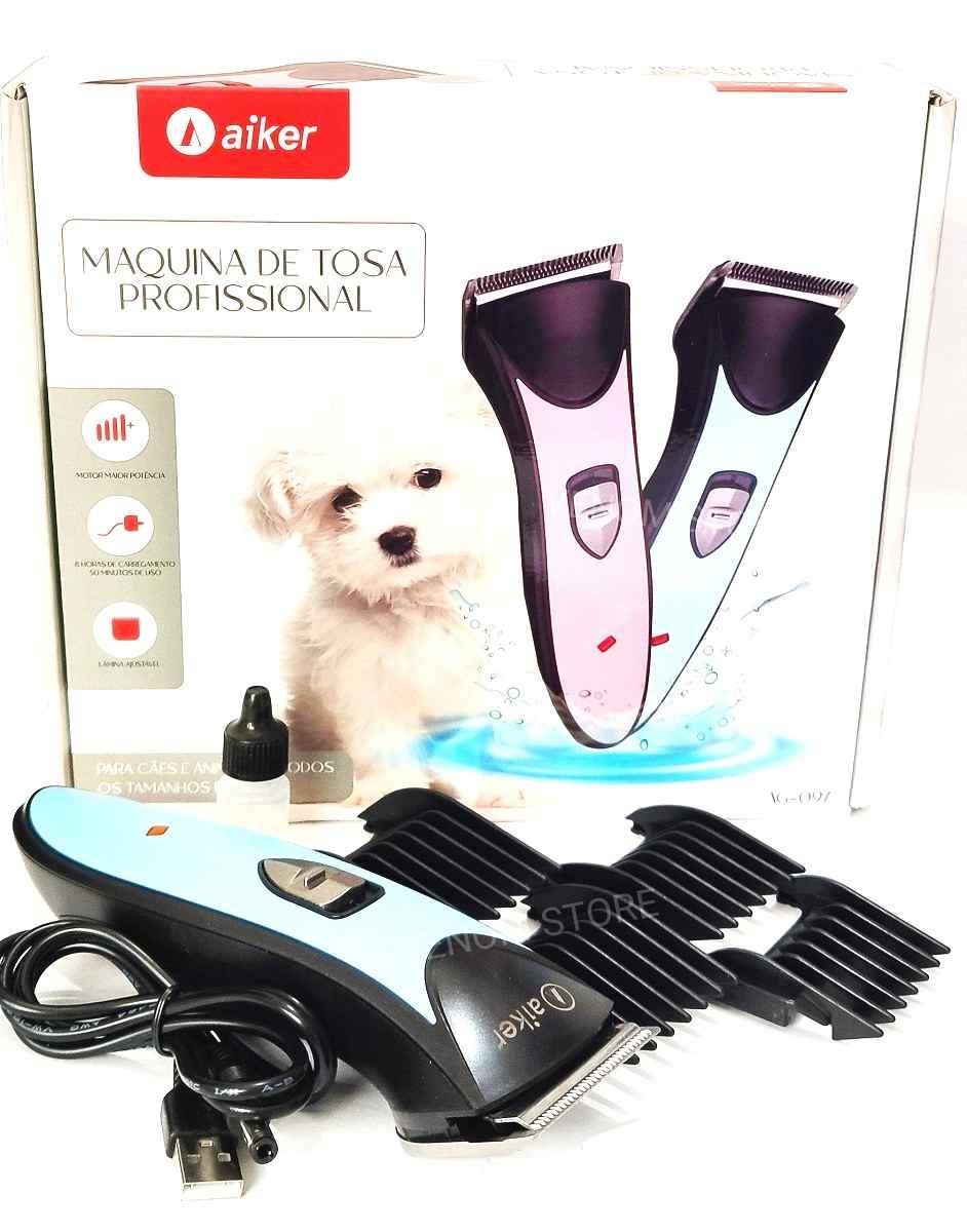 Maquina De Tosa 3w S/Fio Gatos Cães Recarregável Aiker AG-097