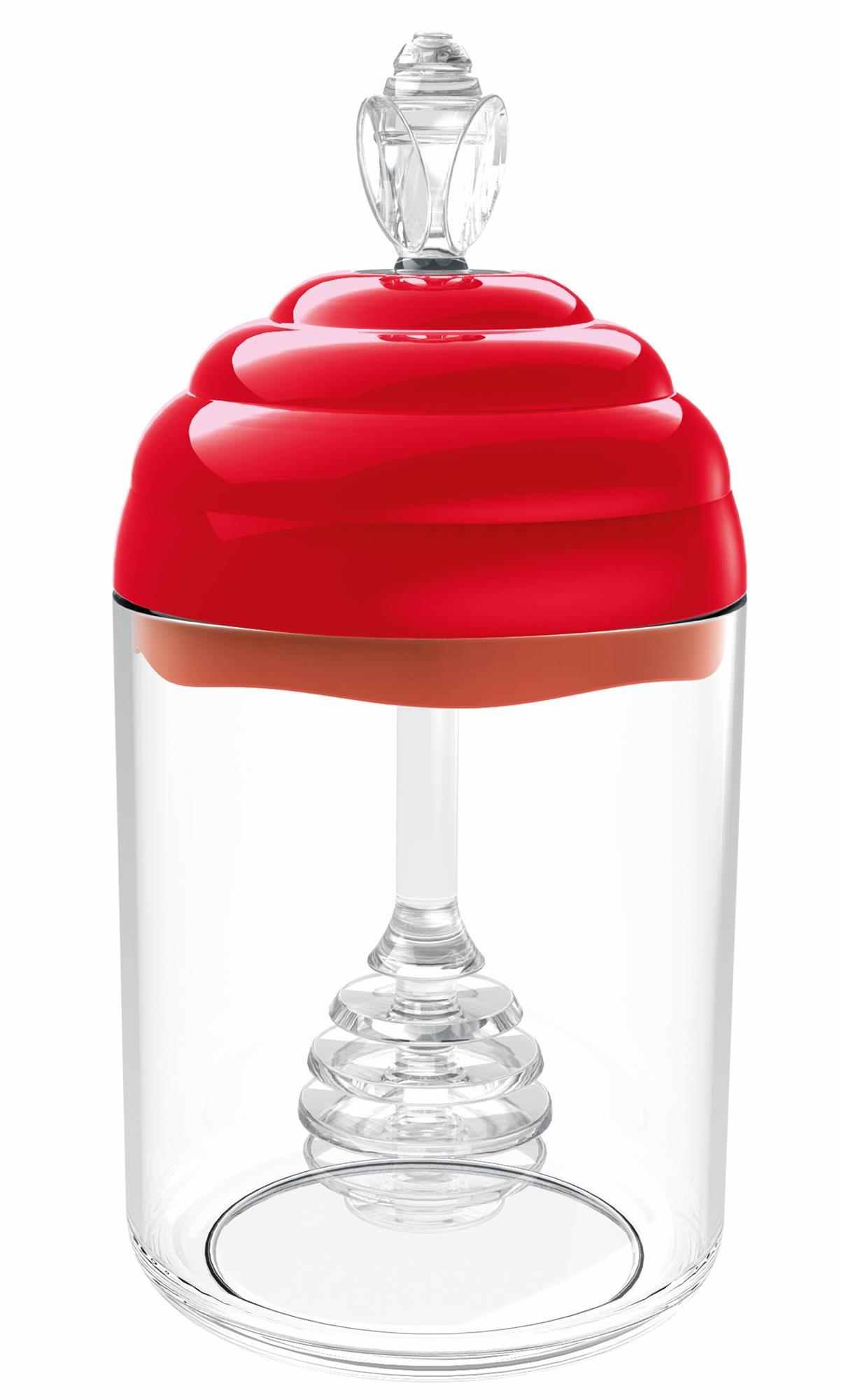 Meleira Porta Mel Vermelho Solido Psf De Plástico Uz Uz139-VM