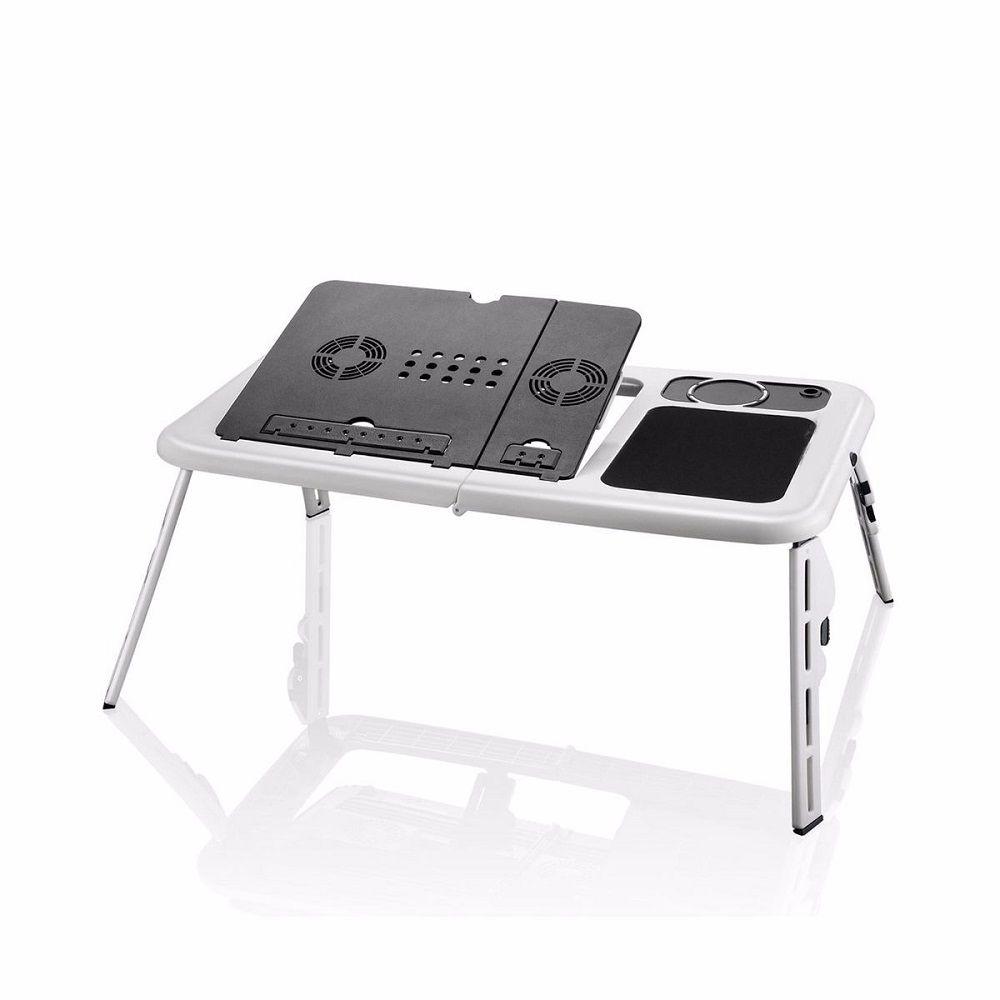 Mesa Notebook Com Cooler Dobrável E Ajustável Formato Ergonômico