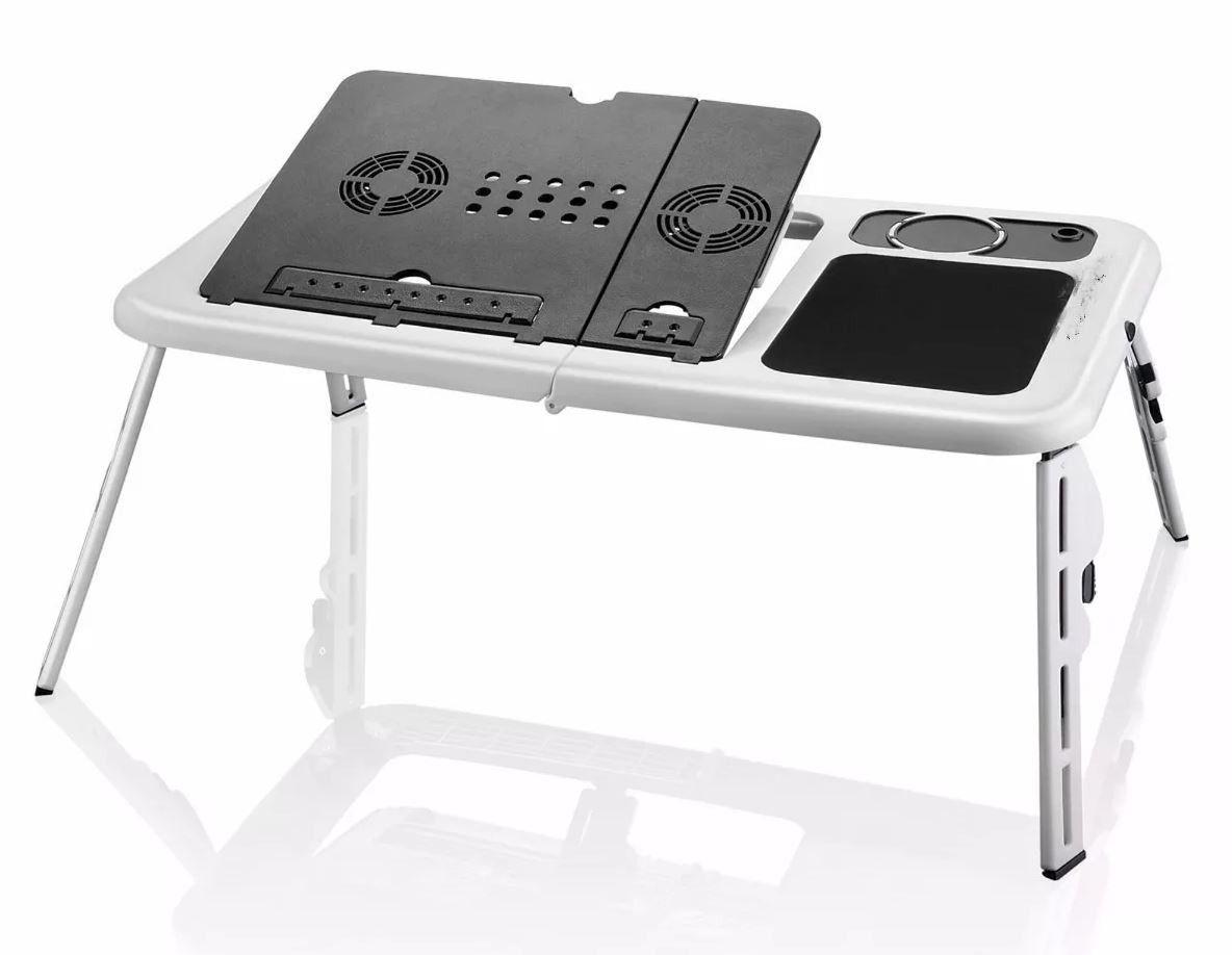 Mesa Notebook Com Cooler Dobrável E Ajustável Formato Ergonômico MTN-888 Tomate