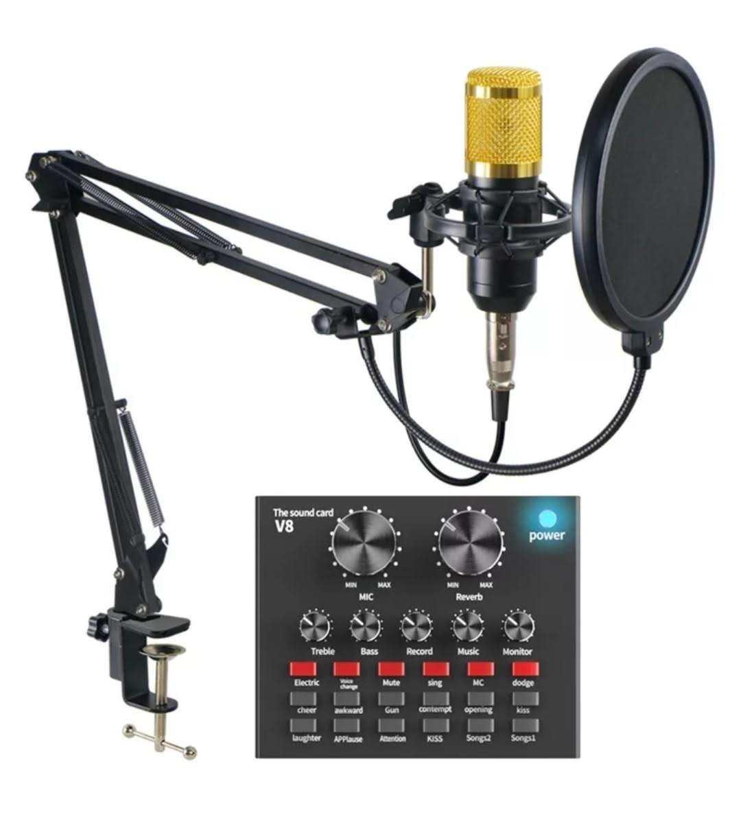 Microfone Condenser Qualidade Profissional Com Gravação Lotus LT-M121