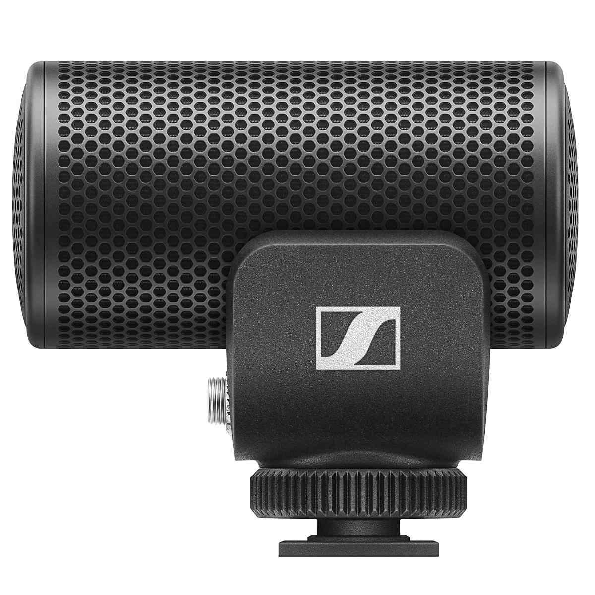 Microfone Supercardioide MKE200 Preto Sennheiser Profissional Ideal p/ Live e Câmeras