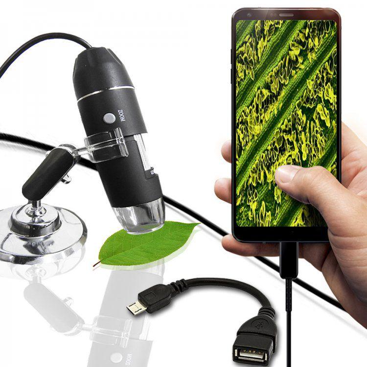 Microscópio Zoom 1000X Digital Usb Hd 2.0 Megapixels 8 LEDs