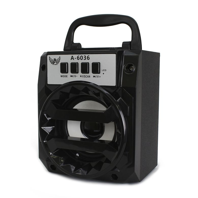 Mini Caixa De Som Led Rgb Bluetooth Fm Aux Sd Pendrive Altomex A-6036