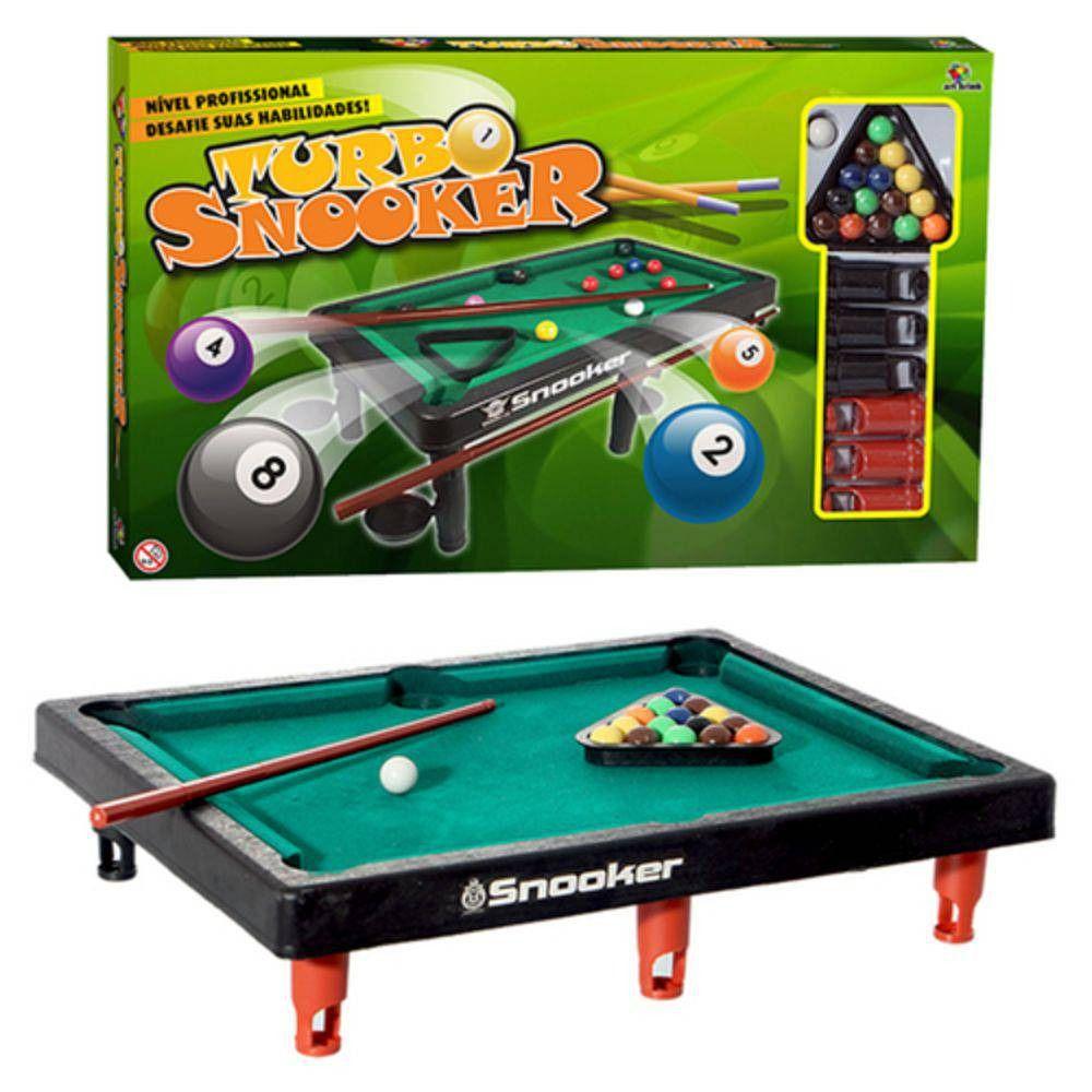 Mini Mesa De Sinuca Turbo Snooker Bilhar Infantil Criança Art Brink