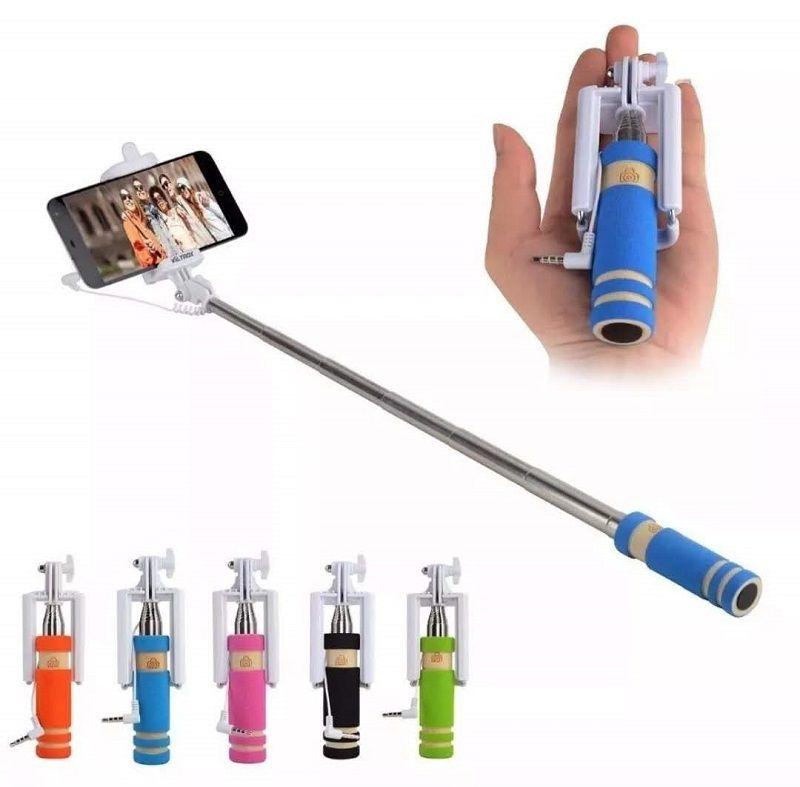 Mini Monopod Pau De Selfie Retrátil De Mão Para Celular