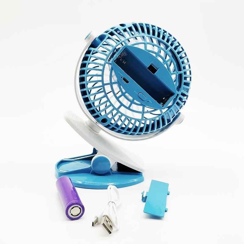 Mini Ventilador USB Pequeno De Mesa Potente 3 Velocidade Recarregável Luatek LS-910