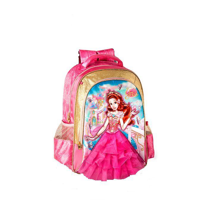 Mochila Escolar Infantil Menina Princesa Yris Clio