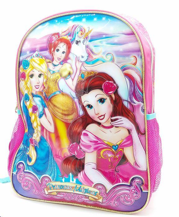 Mochila Escolar Infantil Menina Princesas Mágicas Coleção Clio