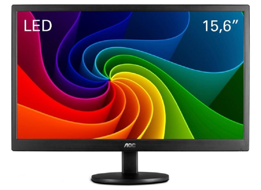 Monitor Aoc 15.6 Slim Led Vga Widescreen e1670swu Bivolt