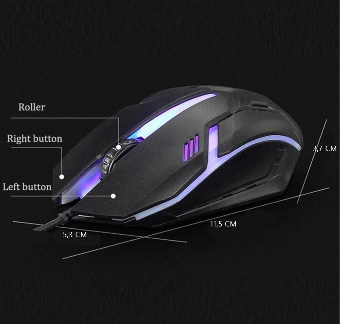 Mouse Gamer Óptico USB 1600Dpi LED 6 Cores High Hig-101