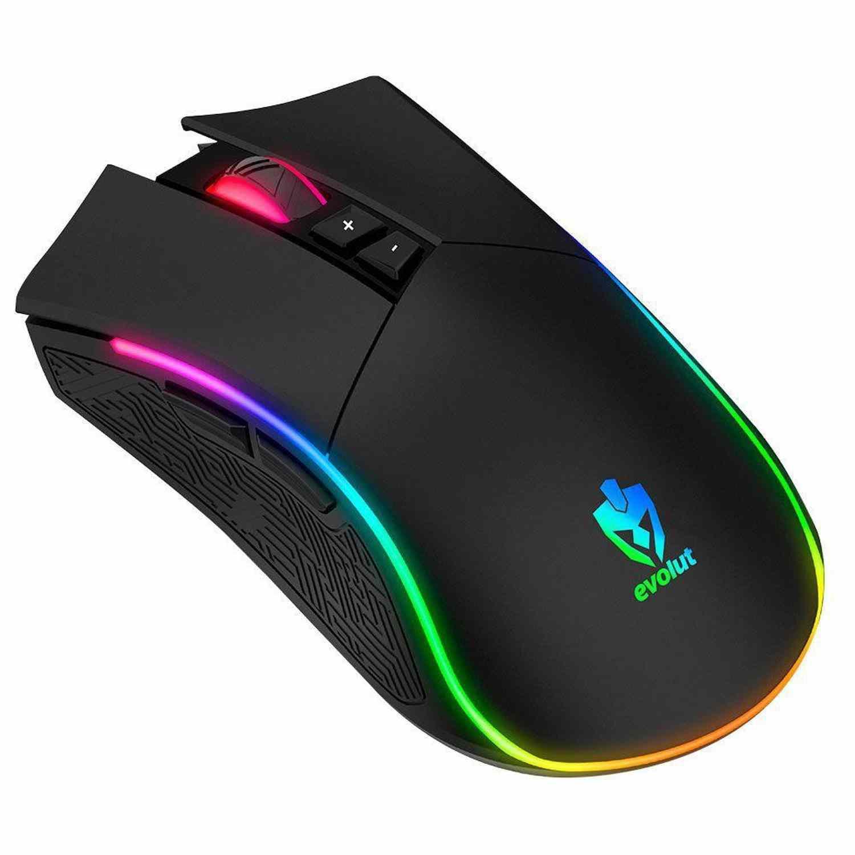 Mouse Gamer Rgb Skadi Eg-106 Evolut 4800 Dpi 7 Botões