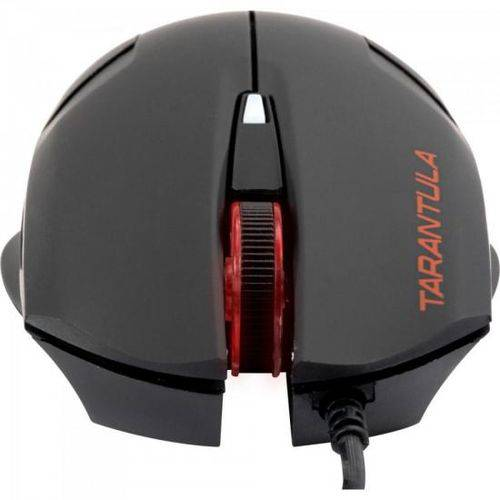 Mouse Gamer Tarantula Preto/Vermelho 2000 Dpi Fortrek OM-702