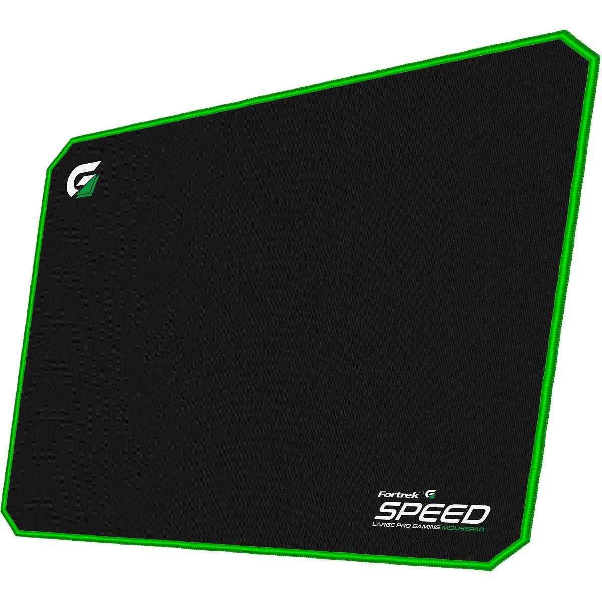 Mouse Pad Gamer (44x35cm) Speed MPG102 Preto/Verde Fortrek