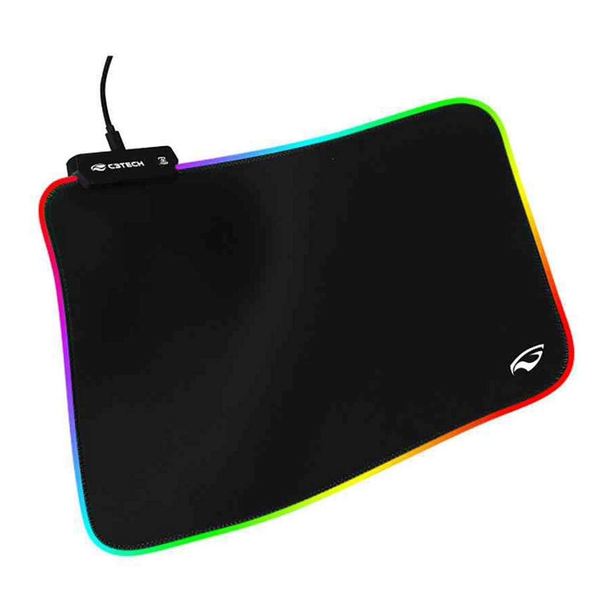 Mouse Pad Gamer com Led C3TECH MP-G2100BK
