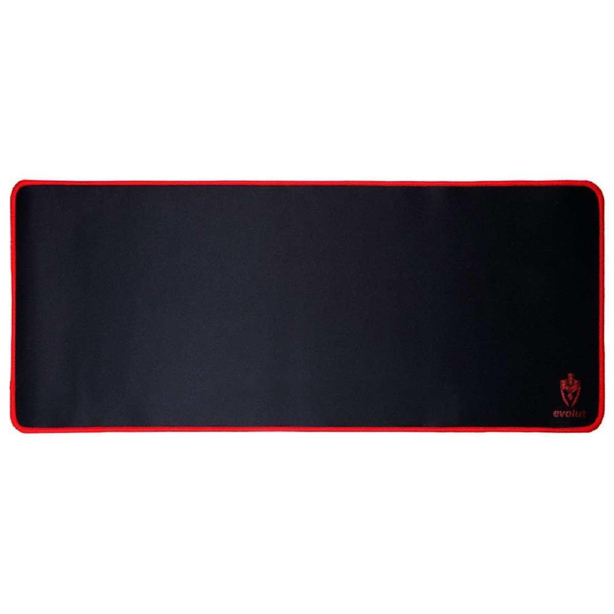 Mouse pad Gamer Speed Grande 70 x 30 cm Preto/Vermelho  Eg-402 Evolut