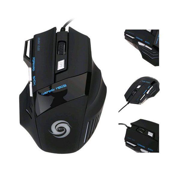 Mouse para Games 7 Botões Conexão USB com LEDS