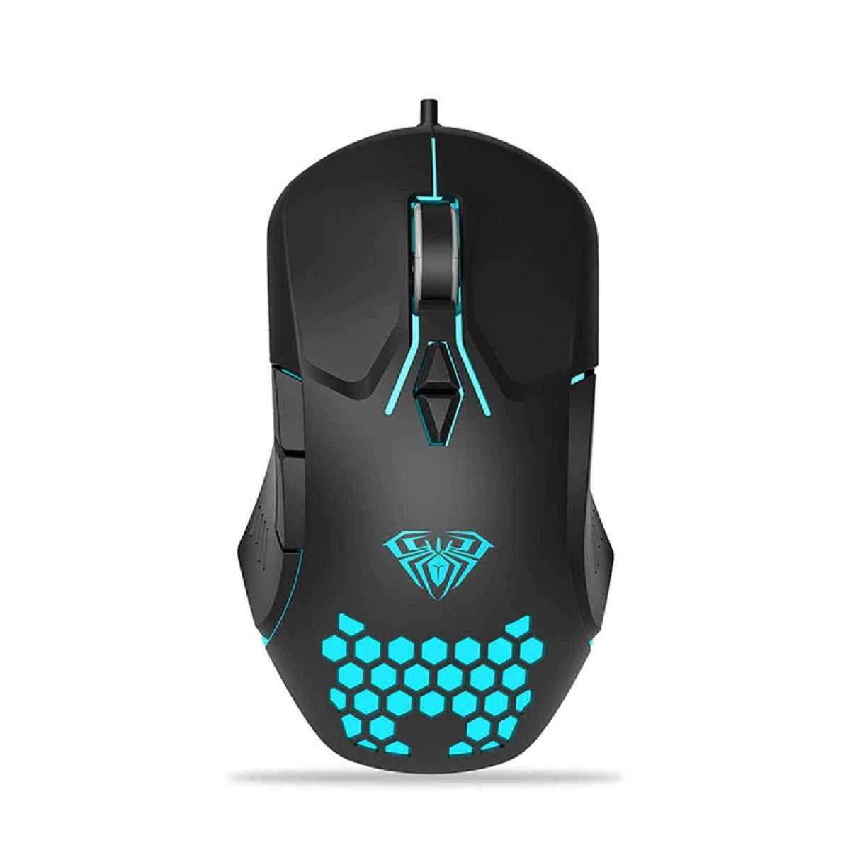 Mouse Profissional Gamer Usb 3200dpi 7 Botões Rgb F809 Aula