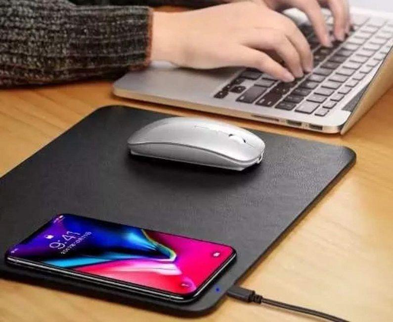 Mouse pad Carregador sem Fio iPhone X,8 Samsung Nokia LG