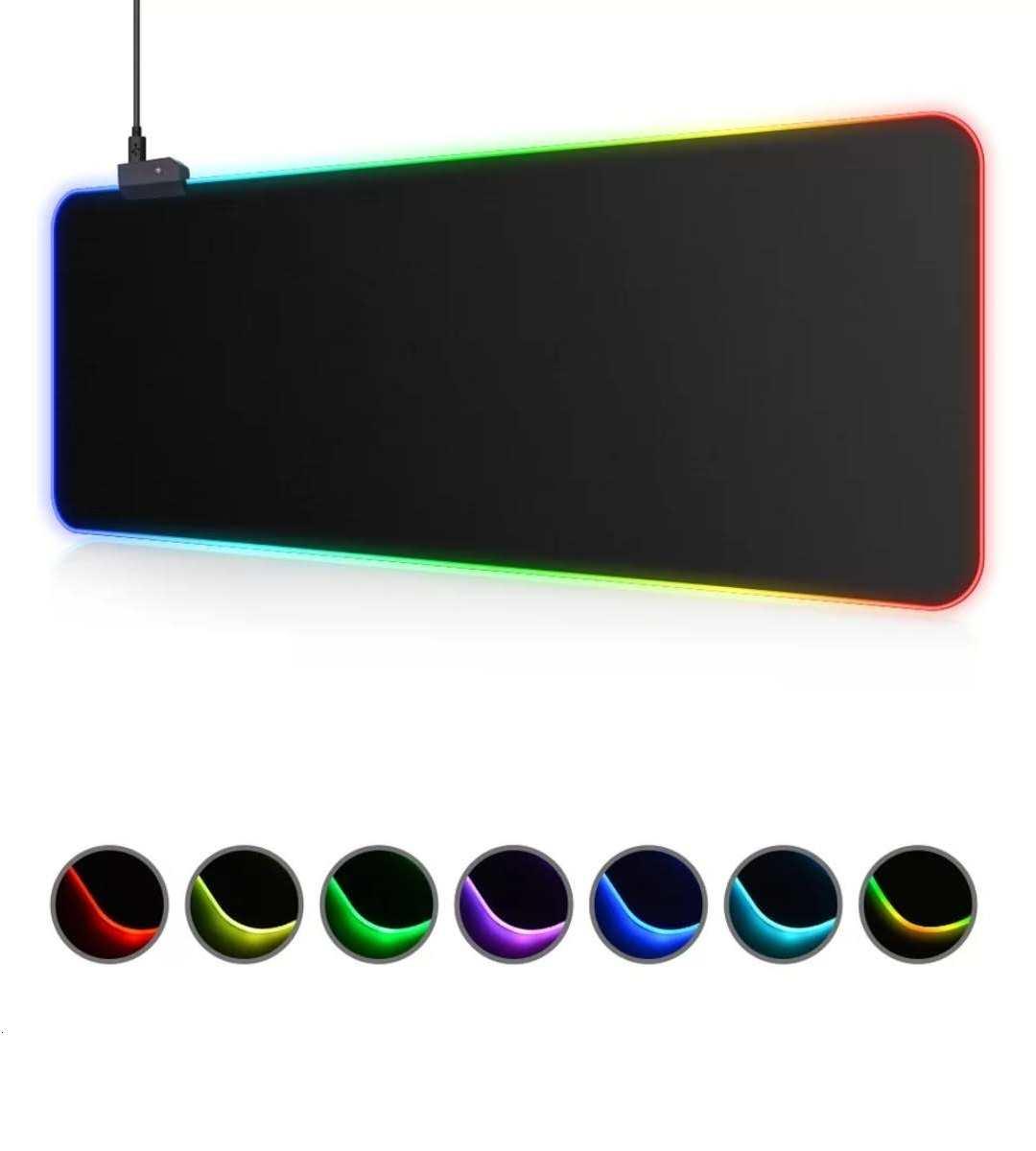 Mousepad Gamer Extra Grande 80 X 30 Cm  Led Rgb