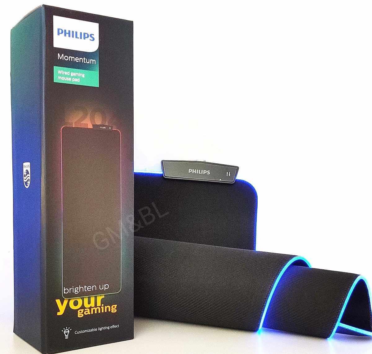 MousePad Gamer Extra Grande 80 X 30 Cm  Led Rgb  Philips Spl7204/00