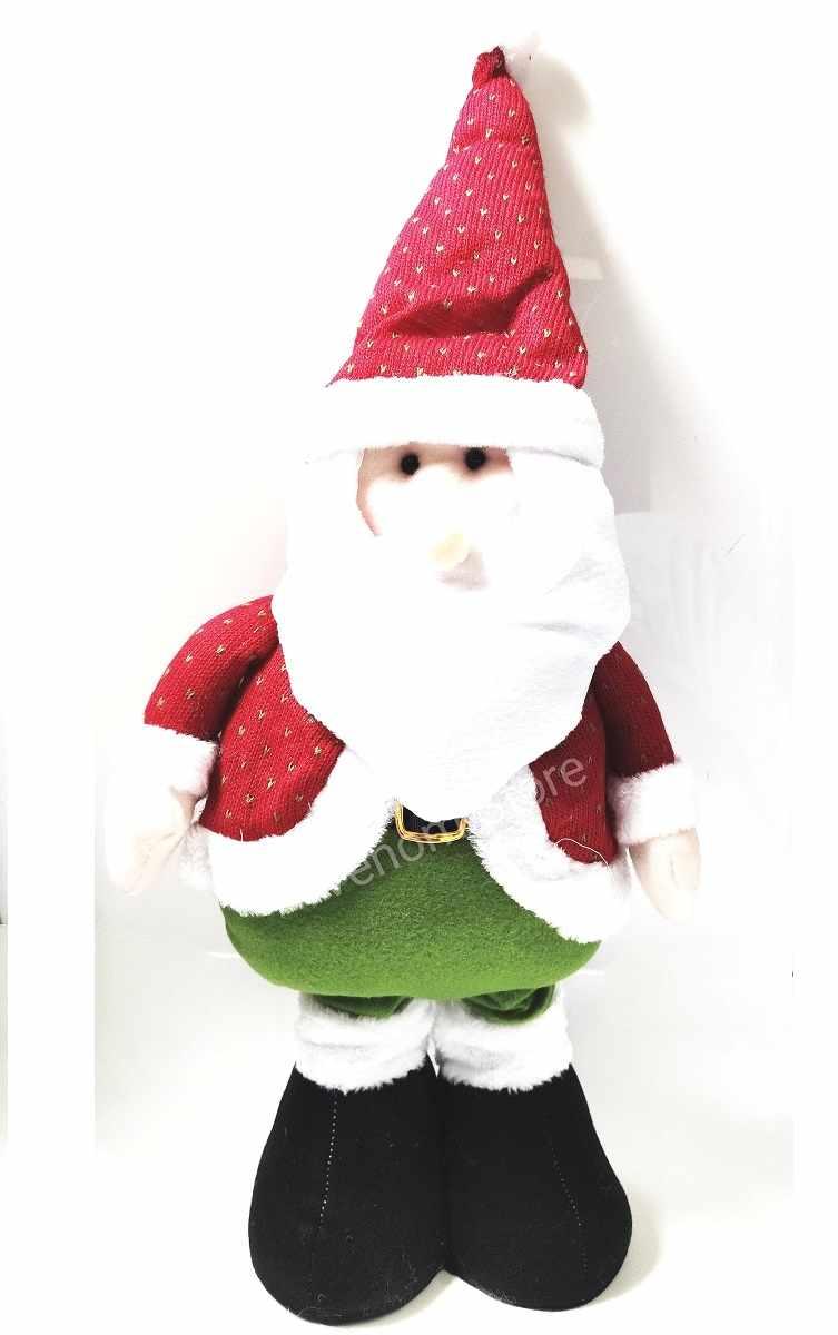 Papai Noel Boneco De Pelúcia Perna Elástica 82,2 cm Decoração De Natal