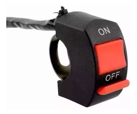 Par Farol Milha LED Auxiliar Neblina Moto Universal Com Interruptor
