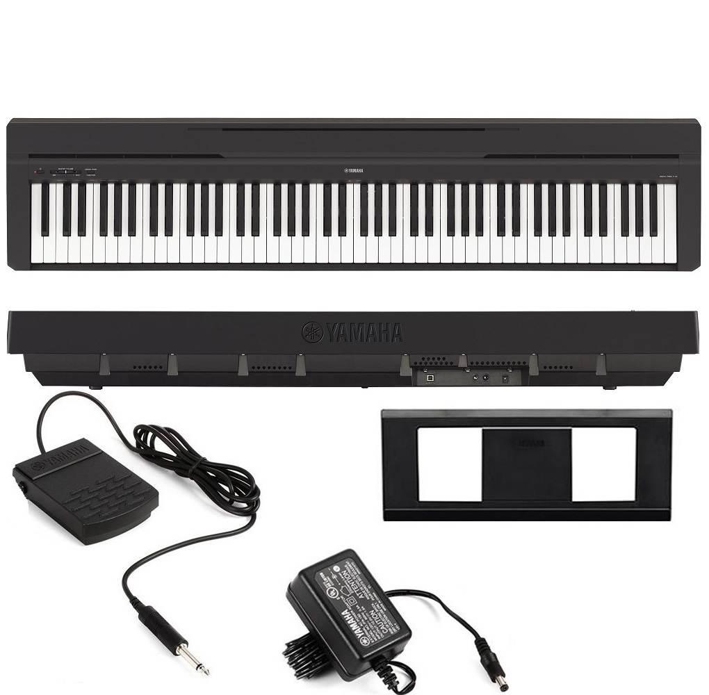 Piano Digital P-45 Preto Yamaha + Fonte Bivolt Pedal Sustain