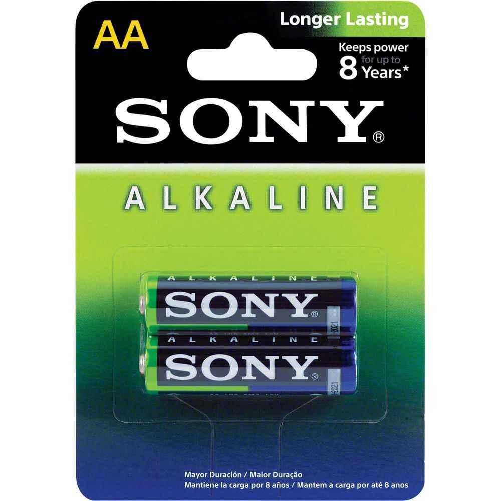 Pilha Alcalina AA Caixa c/24 pilhas Cartela c/2 pilhas Sony AM3L-B2D