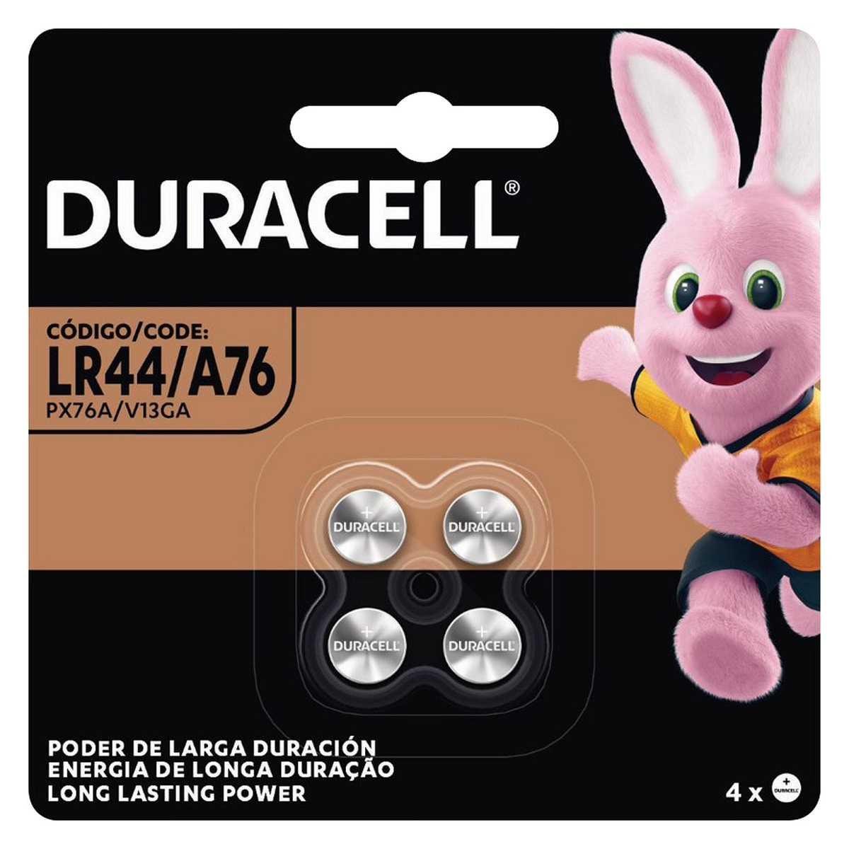 Pilha Botão Alcalina 1,5V LR44 Cartela com 4 pilhas Duracell