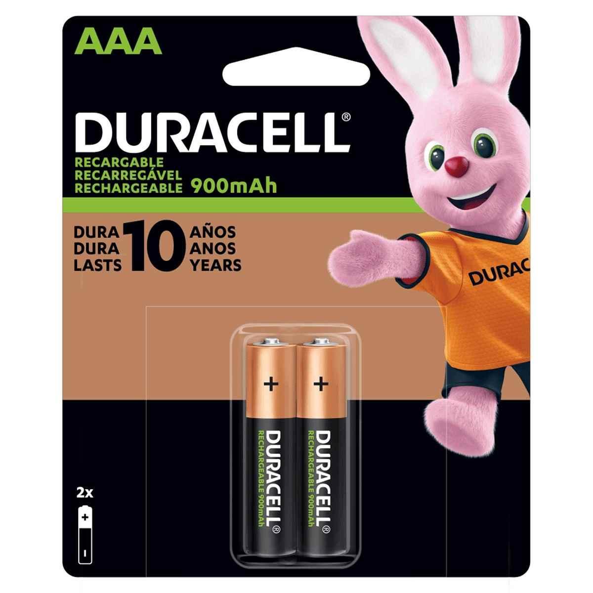 Pilha Palito Recarregável AAA 900-mAh Cartela c/2 pilhas Duracell